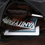 """Koolertron-Sac à dos Classique Casual PU cuir pour ordinateur portable(14 """") Mode Vintage unisexe pour l`école camping Voyage de la marque image 6 produit"""