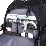 Lifewit Sac à Dos pour 17,3 pouces Ordinateur Portable Antichoc Grande Capacité avec Couverture Noir de la marque Lifewit image 4 produit