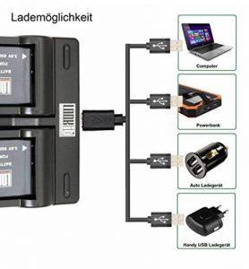 LOOKit Dual Chargeur + 2x LOOKIt Batterie BLC12 - 1050mAh pour Panasonic FZ2000 G81 FZ300 FZ1000 de la marque LOOKit® - Batterie - Sac image 2 produit
