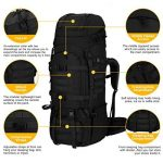 Mardingtop 65+10L sac a dos militaire Sac à dos tactique avec housse de pluie pour trekking/randonnée/camping/voyage 4 couleurs de la marque Mardingtop image 3 produit