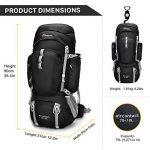 Mardingtop 70L+10L sac à dos de randonnee sports en plein air avec couverture de pluie pour l'alpinisme, le camping, le trekking, les voyages et l'escalade de la marque image 1 produit
