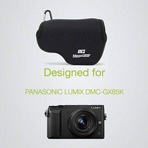 MegaGear MG734 Étui avec Mousqueton en Néoprène pour Appareil photo Panasonic Lumix DMC-GX85/GX80 avec 12-32mm lentille Noir de la marque MegaGear image 4 produit