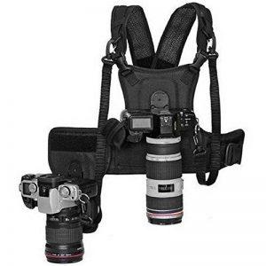 Micnova MQ-MSP01 Harnais Professionnel pour 2 Appareils Photos Noir de la marque MICNOVA image 0 produit