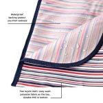MIU COLOR® Tapis/Couverture De Pique-nique Imperméable Pliable Portable (rayure blanche bleue et rouge) de la marque MIU COLOR image 2 produit