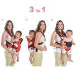 MixMart 3-en-1 Porte-bébé Ventral/Dorsal Ergonomique Tissu Respirant pour Porter Bébé Multifonctionnel avec Bavoir pour Bébé de 3,5-12kg de la marque MixMart image 5 produit
