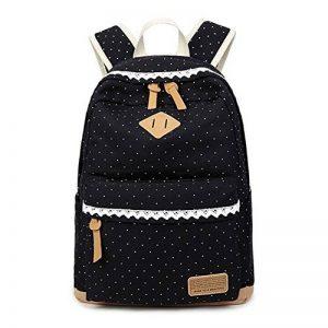 Mode Sac à dos fille d'école, sac à dos léger toile femmes, sac à dos d'adolescent, sac à dos d'ordinateur portable, sacs à dos loisirs extérieurs avec la dentelle élégante de la marque image 0 produit