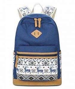 Mode Sac à dos fille d'école, sac à dos léger toile femmes, sac à dos d'adolescent, sac à dos d'ordinateur portable, sacs à dos loisirs extérieurs avec la dentelle élégante de la marque JJL image 0 produit