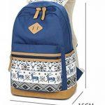 Mode Sac à dos fille d'école, sac à dos léger toile femmes, sac à dos d'adolescent, sac à dos d'ordinateur portable, sacs à dos loisirs extérieurs avec la dentelle élégante de la marque JJL image 6 produit