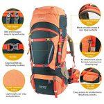 Mountaintop 70L + 10L Sac à dos de randonnée/sac au dos Trekking Sac avec housse de pluie pour l'escalade,le camping,la randonnée pédestre, Voyage et Alpinisme,33,5 x 18,3 x 11,8 pouces de la marque MOUNTAINTOP image 2 produit