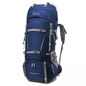 Mountaintop 70L + 10L Sac à dos de randonnée/sac au dos Trekking Sac avec housse de pluie pour l'escalade,le camping,la randonnée pédestre, Voyage et Alpinisme,33,5 x 18,3 x 11,8 pouces de la marque image 0 produit