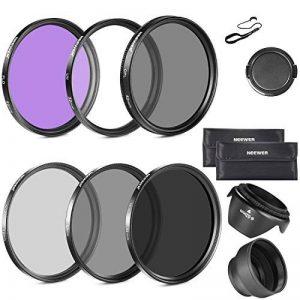 Neewer 52mm Objectif Filtre Kit d'Accessoire pour Nikon D7100 D7000 D5200 D5100 D5000 D3300 D3200 D3100 D3000 D90 D80 Appareils Photo Reflex Numériques - Inclus: 52mm Ensembre de Filtre (UV, CPL, FLD) + Ensemble de Filtre ND Densité Neutre + Sac de Tr image 0 produit