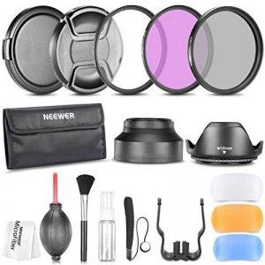 Neewer 58mm Professionel Kit d'Accessoire pour Canon EOS 700D 650D 600D 550D 500D 450D 400D 350D 300D 1100D 100D 60D/ Rebel (T5i T4i T3i T3 T2i T1i XT XTi XSi SL1) Appareils Photo Reflex Numériques - Inclus: Ensembre de Filtre (UV, CPL, FLD) + Sac de image 0 produit