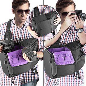 Neewer Caméra Sac à dos Housse Écharpe 24,9x20x42,9 Centimètre Imperméable Léger et Durable pour DSLR et Appareil Photo Mirrorless (Canon Nikon Sony Pentax Olympus Fujifilm Panasonic) Violet de la marque Neewer image 3 produit