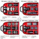 Neewer Pro Étui Sac à Dos Étanche Résistant aux Chocs 31x14x37cm pour Caméra avec Fixation de Trépied pour SLR, DSLR, Caméra Sans Miroir, Flash et Autres Accessoires (Intérieur Rouge) de la marque image 4 produit