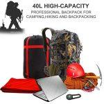 outad 40L Sac à dos trekking Nylon Military Backpack Camping Sac de randonnée Tactical étanche pour la chasse, camping, les loisirs, Voyage, alpinisme, Outdoor avec Nylon résistant de la marque image 2 produit