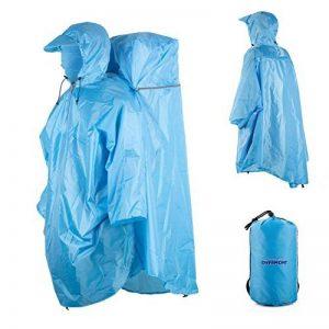 Overmont poncho imperméable raincoat en polyester avec protection de sac à dos pour randonnées, vélo, pique-nique et camping etc. de la marque Overmont image 0 produit