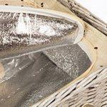 Panier de pique-nique en osier de luxe pour 4personnes avec compartiment isotherme et sac isotherme pour bouteille de la marque EliteHousewares image 3 produit