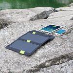 Panneau Solaire, X-DRAGON 14W Dual USB SunPower Chargeur Solaire iPhone, ipad, Samsung, Smartphones Android et plus d'autres appareils (SolarIQ Technology, Foldable, Portable) de la marque image 4 produit