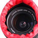 POLAM-FOTO Housse Objectif/Poche Lentille Epais pour Protéger l'Objectif, Etui Objectif Neoprène avec un Intérieur en Peluche Noir Epais et Doux pour Canon, Nikon, Tamron, Sigma, Pentax, Sony, etc.(4 Pack) de la marque POLAM-FOTO image 5 produit