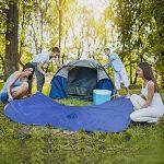 Ponchos Imperméables, 3 en 1 Poncho de pluie/Tapis de Tente/Couverture de Pique-Niques Pour Camping Randonnée Cyclisme Activité En Plein Air -Adulte unisexe de la marque Hearmarket image 5 produit