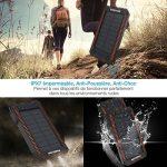 Poweradd Apollo Batterie Externe Solaire pour iPhone, iPad, Smartphone et Tablette,12000mah avec Deux lampes LED Double Sortie USB,Briquet Intégré de la marque image 5 produit