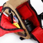 Professionnel Triangle Sac à dos / Sac à bandoulière pour appareil photo reflex numérique et accessoires- Jaune de la marque Générique image 2 produit