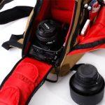 Professionnel Triangle Sac à dos / Sac à bandoulière pour appareil photo reflex numérique et accessoires- Jaune de la marque Générique image 3 produit