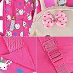 Queta Mignon Lapin Animal Design Petits Enfants Sac à Dos Bambin Sac d'Ecole 3D Rose de la marque Queta image 5 produit