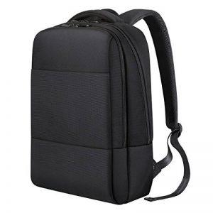 REYLEO Sac a dos Homme Femme en nylon Sac a dos Ordinateur portable Sac à dos d'affaires Business backpack avec un crochet pour attacher des clefs 18 L Noir RB07 de la marque image 0 produit