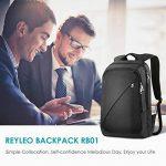 REYLEO Sac à dos pour Ordinateur portable Sac à dos Homme Sac à dos d'affaires Business backpack 19 L Noir RB01 de la marque image 1 produit