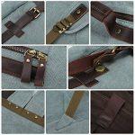 S-ZONE Double Zippé Sac à Dos Fashion en Cuir Pour Ordinateur Portable 15 Pouces de la marque image 3 produit