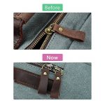 S-ZONE Double Zippé Sac à Dos Fashion en Cuir Pour Ordinateur Portable 15 Pouces de la marque image 4 produit