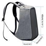 """Sac à dos Antivol WinCret pour ordinateur portable 17.3"""" / 15.6"""" avec serrure / Port de Charge USB / Prise casque - Sac à dos pour ordinateur portable avec housse de pluie pour homme et femme de la marque WinCret image 3 produit"""