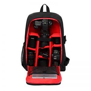 Sac à Dos Appareil Photo, Pbreack Sac pour caméra reflex numérique SLR Canon, Nikon, Sony, Pentax, Fujifilm, Panasonic, Leica et plus (rouge) de la marque Pbreack image 0 produit