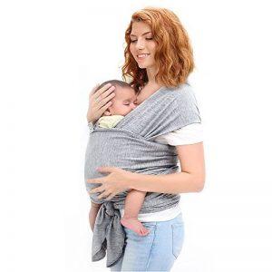 Ostenx Echarpe de Portage Pour Transporter le Bébé,Sac à dos Porte Bébé  CuddleBug pour Enfant Nouveau-né(Gris) de la marque Ostenx 5f628902b54