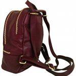 Sac à dos et sac bandoulière en cuir, pour femme, made in Italy de la marque image 1 produit