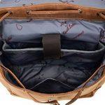 """Sac à dos - Gusti Cuir studio """"Jaime"""" backpack bagage à main vintage bagage cabine rétro homme femme cuir de buffle marron clair 2M21-20-5wp S de la marque Gusti Cuir image 4 produit"""