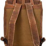 """Sac à dos - Gusti Cuir studio """"Jaime"""" backpack bagage à main vintage bagage cabine rétro homme femme cuir de buffle marron clair 2M21-20-5wp S de la marque Gusti Cuir image 6 produit"""