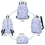 Sac à dos Licorne, Tezoo Imperméable Super léger 35L Sports Voyage Backpack Design Kawaii pour École Enfant Fille Garçon Rentrée scolaire - Rose Bleu de la marque image 2 produit