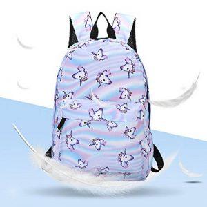 Sac à dos Licorne, Tezoo Imperméable Super léger 35L Sports Voyage Backpack Design Kawaii pour École Enfant Fille Garçon Rentrée scolaire - Rose Bleu de la marque Tezoo image 0 produit