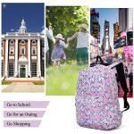 Sac à dos Licorne, Tezoo Imperméable Super léger 35L Sports Voyage Backpack Design Kawaii pour École Enfant Fille Garçon Rentrée scolaire - Rose Bleu de la marque Tezoo image 4 produit