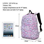 Sac à dos Licorne, Tezoo Imperméable Super léger 35L Sports Voyage Backpack Design Kawaii pour École Enfant Fille Garçon Rentrée scolaire - Rose Bleu de la marque image 5 produit