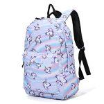 Sac à dos Licorne, Tezoo Imperméable Super léger 35L Sports Voyage Backpack Design Kawaii pour École Enfant Fille Garçon Rentrée scolaire - Rose Bleu de la marque Tezoo image 1 produit