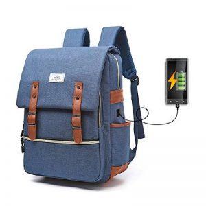 Sac à dos Ordinateur Portable, Tezoo Imperméable Super léger 30L Backpack avec Prise USB pour École Étudiant Homme Femme Business - Bleu de la marque image 0 produit