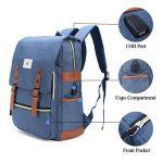 Sac à dos Ordinateur Portable, Tezoo Imperméable Super léger 30L Backpack avec Prise USB pour École Étudiant Homme Femme Business - Bleu de la marque image 3 produit
