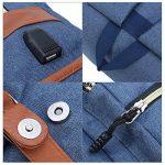 Sac à dos Ordinateur Portable, Tezoo Imperméable Super léger 30L Backpack avec Prise USB pour École Étudiant Homme Femme Business - Bleu de la marque image 5 produit