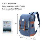 Sac à dos Ordinateur Portable, Tezoo Imperméable Super léger 30L Backpack avec Prise USB pour École Étudiant Homme Femme Business - Bleu de la marque Tezoo image 6 produit