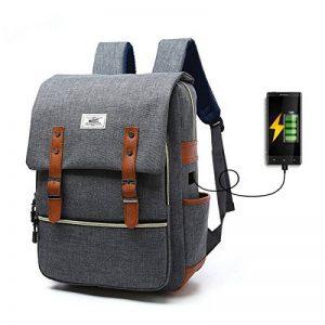 Sac à dos Ordinateur Portable, Tezoo Imperméable Super léger 30L Backpack avec Prise USB pour École Étudiant Homme Femme Business - Gris de la marque image 0 produit