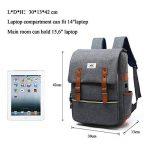 Sac à dos Ordinateur Portable, Tezoo Imperméable Super léger 30L Backpack avec Prise USB pour École Étudiant Homme Femme Business - Gris de la marque image 6 produit