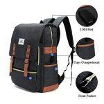Sac à dos Ordinateur Portable, Tezoo Imperméable Super léger 30L Backpack avec Prise USB pour École Étudiant Homme Femme Business - Noir de la marque image 1 produit